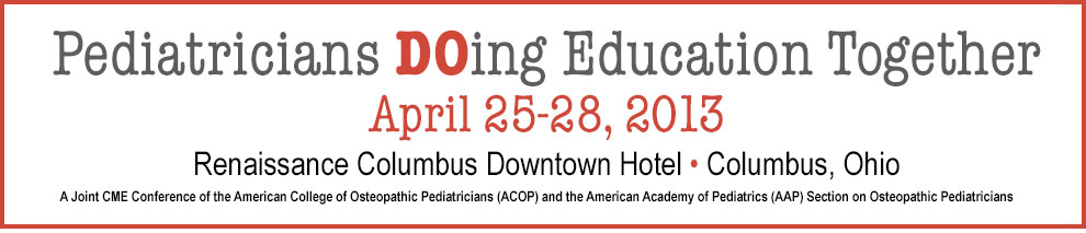 ACOP/AAP 2013 Spring Conference Syllabus